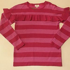Kate Spade size 14 girls metallic knit sweater